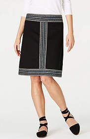 Refined Knit Embroidered Skirt