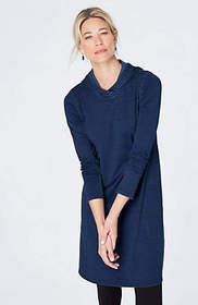 Pure Jill Indigo Hooded Dress