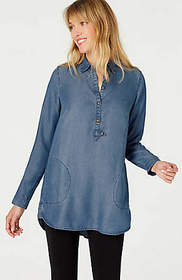Indigo Shirttail Tunic