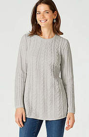 Cable Chenille A-Line Sweater Tunic