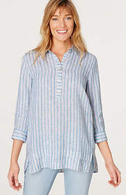 Linen 3/4-Sleeve Relaxed Tunic