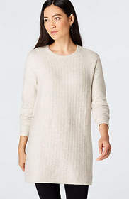 Mixed-Texture Sweater Tunic