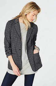 Double-Knit Button-Front Jacket
