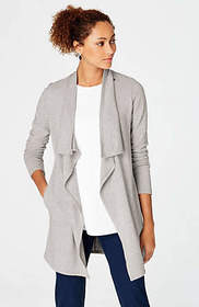 Pure Jill Long Asymmetrical Jacket
