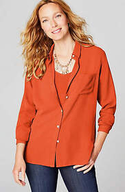 Relaxed Shirttail Blouse