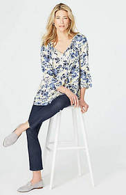 Rayon Voile Floral Peasant Top