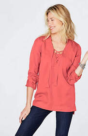Tencel® Lace-Up Top