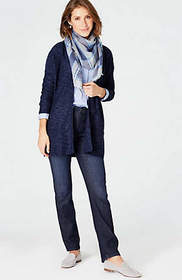 Relaxed Open-Front Cardi