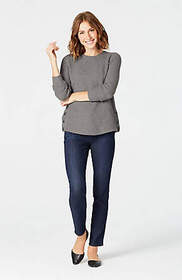 Textured Side-Button Sweater