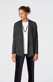 Pure Jill Multiseamed Open-Front Cardi