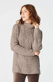 Marled Cable Pullover