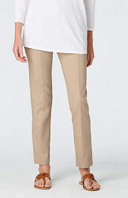 Essential Cotton-Stretch Ankle Pants