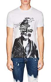 DSQUARED2 Abstract-Logo-Skull Cotton T-Shirt