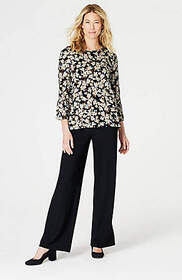 Wearever Shirred-Sleeve Top
