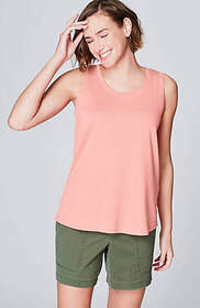 Pima Back-Pleat Tank