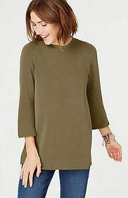 Soft-Washed A-Line Knit Top