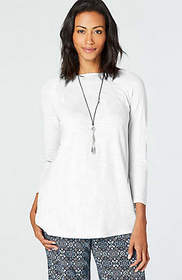 Seamed Boat-Neck Tee