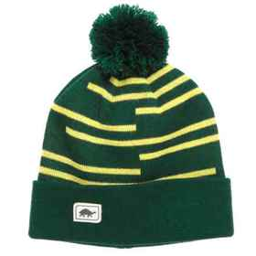 Turtle Fur Line Up Knit Beanie (For Men) in Forest