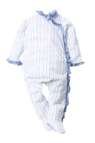 7 For All Mankind Ruffle Footie (Baby Girls)