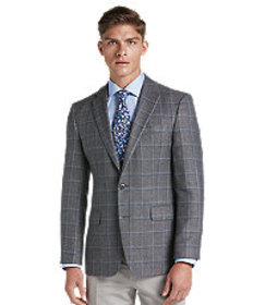 Jos Bank 1905 Collection Windowpane Slim Fit Plaid