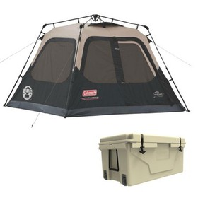 Coleman Outdoor Camping 4-Person Cabin Tent And Ur