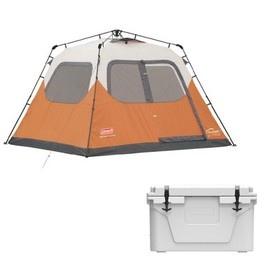 Coleman 6 Person 10' X 9' Family Camping Instant T