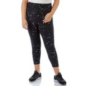 SPALDING Plus Size Star Print Leggings with Mesh A