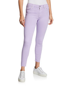 7 For All Mankind Ankle Skinny Jeans with Cutoff H