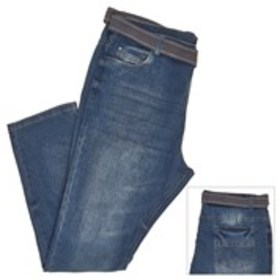 STEVES JEANS Big and Tall Belted Stretch Jeans