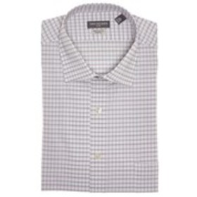 Mens Stretch-Fit Checkered Long-Sleeved Shirt