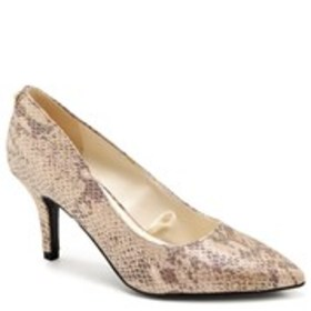ANNE KLEIN Womens Snake Print Pointed Toe Pumps