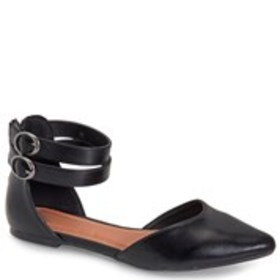 Womens Double Ankle Strap Flats