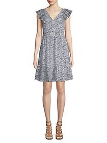 MICHAEL Michael Kors Printed Cotton A-Line Dress W
