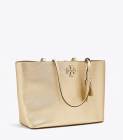 Tory Burch MCGRAW METALLIC TOTE
