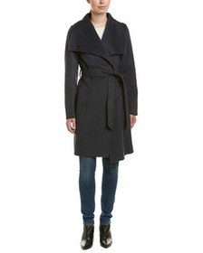 T Tahari Ellie Wool-Blend Wrap Coat~1411991494