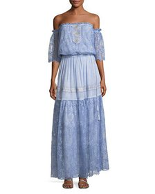 Queen & Pawn Lydia-Troy Off-the-Shoulder Embroider