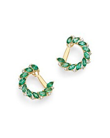 Bloomingdale's - Emerald Marquis & Diamond Front-t