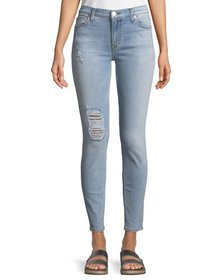 Hudson Natalie Tomboy Distressed Ankle Jeans