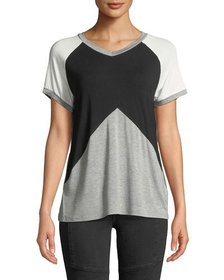 Philosophy V-Neck Colorblock Tee