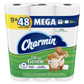 Charmin Sensitive 2-Ply Toilet Paper, 12 Mega Roll