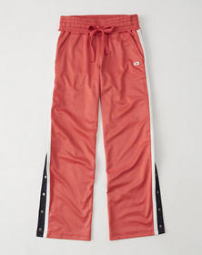 Side Snap Track Pants, RED