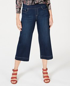 Style & Co Cropped Wide-Leg Jeans, Created for Mac