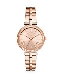 Michael Kors Three-Hand Rose Goldtone Stainless St
