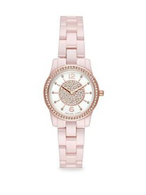 Michael Kors Runway Two-Hand Ceramic Watch PINK