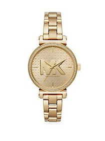 Michael Kors Sofie Three-Hand Goldtone Stainless S