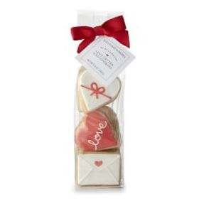 Valentine's Day Love Letter Iced Cookies