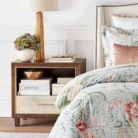 Parchment 1 Drawer Nightstand