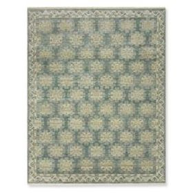 Karabagh Hand Knotted Rug, Turquoise