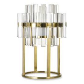 Phoebe Crystal Table Lamp, Antique Brass