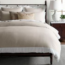 Chambers Italian Flax Washed Linen Border Duvet Co